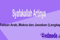 Syafakallah Artinya - Tulisan Arab, Makna dan Jawaban (Lengkap)