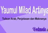 Yaumul Milad Artinya - Tulisan Arab, Penjelasan dan Maknanya