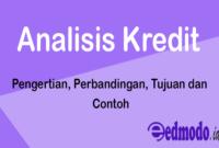 Analisis Kredit - Pengertian, Perbandingan, Tujuan dan Contoh