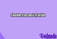 Contoh Asuransi Syariah
